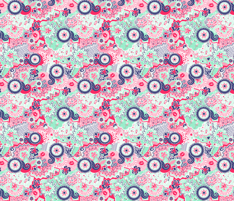 Flamingo Paradise Hot and Cold fabric by johanna_lange_designs on Spoonflower - custom fabric