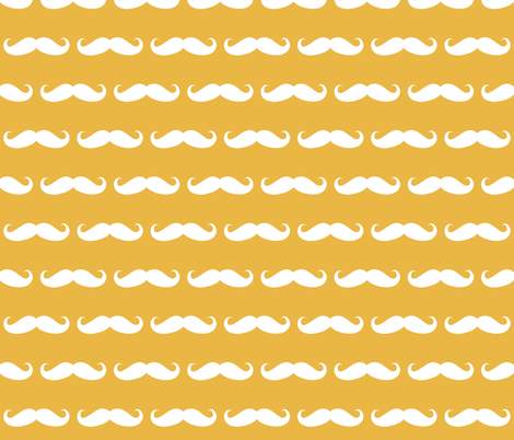 Mustaches on yellow  fabric by katarina on Spoonflower - custom fabric