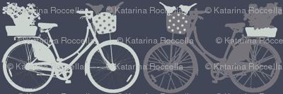 Bicycles on bluish grey
