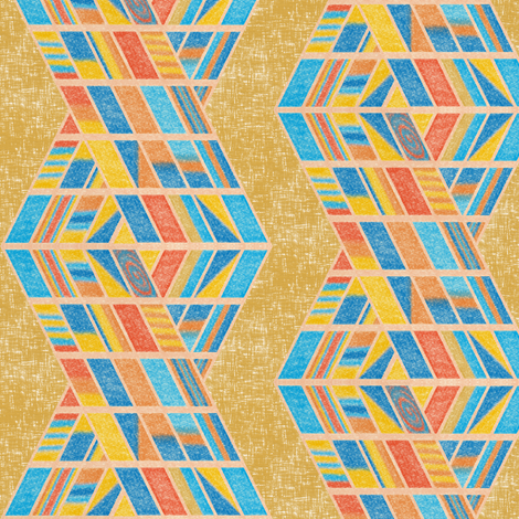 Beach strands on honey gold, large by Su_G fabric by su_g on Spoonflower - custom fabric
