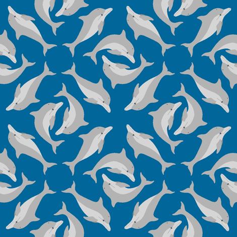 01270013 : dolphin array fabric by sef on Spoonflower - custom fabric