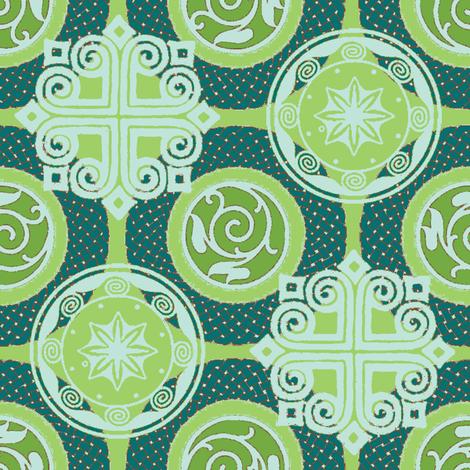 wreath and shadow fabric by keweenawchris on Spoonflower - custom fabric