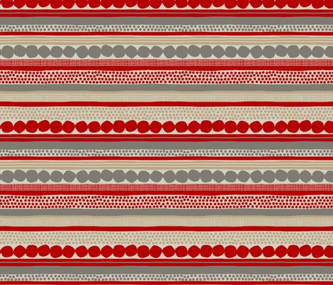 POMEGRANATES_STRIPE fabric by glorydaze on Spoonflower - custom fabric