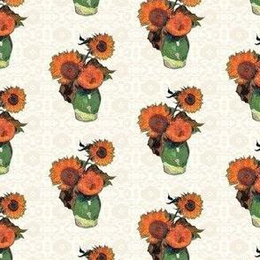 Sunflowers on Cream | Southwest Style |  Van Gogh