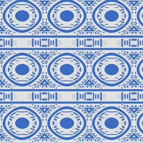 Blue and White Circle Frieze © Gingezel™ 2012