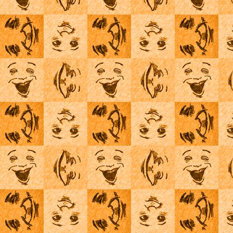 HappyFaces_ 5_small fabric by tallulahdahling on Spoonflower - custom fabric