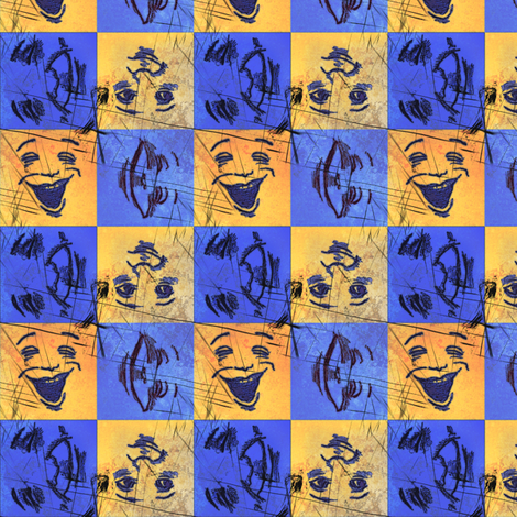 HappyFaces: Bright and Grungy_small fabric by tallulahdahling on Spoonflower - custom fabric