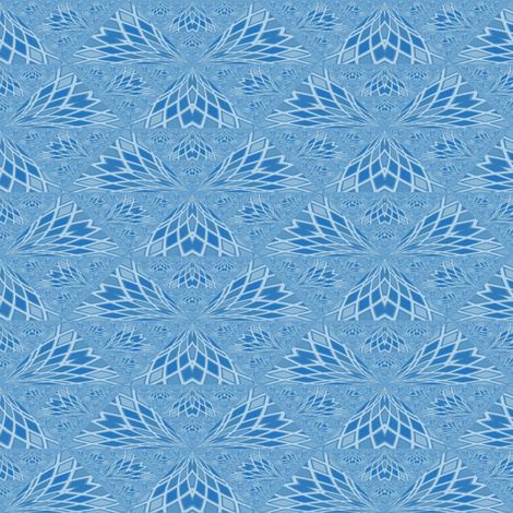 Blue Feather Abstract © Gingezel™ 2012 fabric by gingezel on Spoonflower - custom fabric
