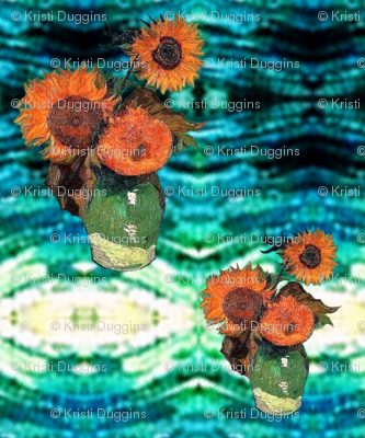 Van Gogh's Sunflowers on Starry Night | Southwest Style