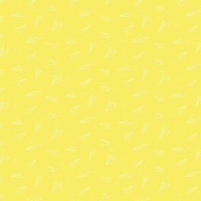 paper_aeroplanes_flying_yellow_white