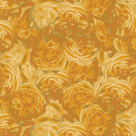 graham thomas yellow roses fabric by owls on Spoonflower - custom fabric