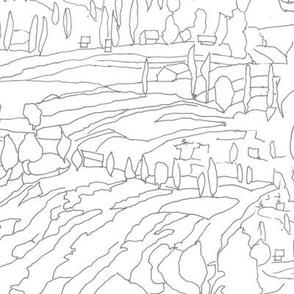 Charcoal & White Landscape