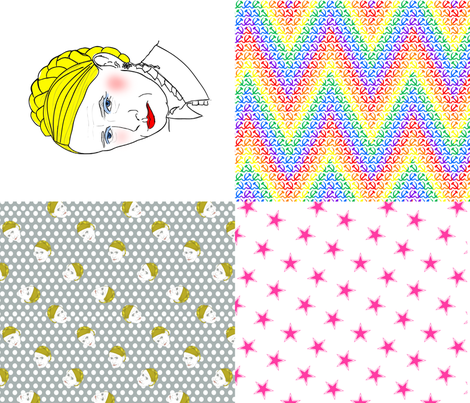 Putina 4 on a fat quarter fabric by susiprint on Spoonflower - custom fabric