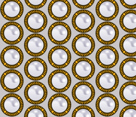 Cameo Pearls - gold fabric by fridabarlow on Spoonflower - custom fabric