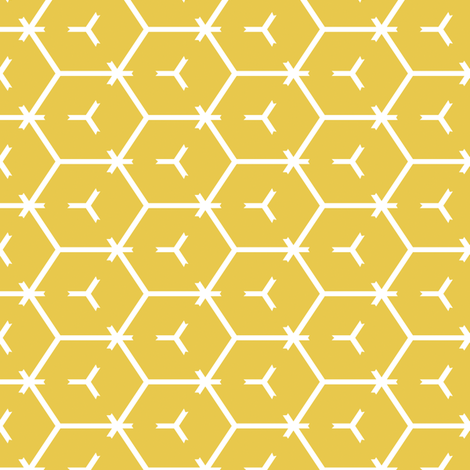 Honeycomb Motif 2 fabric by animotaxis on Spoonflower - custom fabric