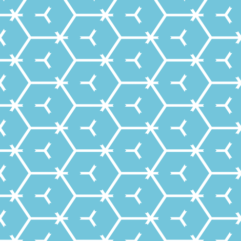 Honeycomb Motif 3 fabric by animotaxis on Spoonflower - custom fabric