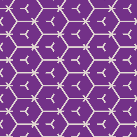 Honeycomb Motif 4 fabric by animotaxis on Spoonflower - custom fabric