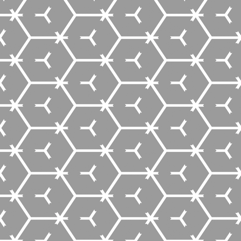 Honeycomb Motif 9 fabric by animotaxis on Spoonflower - custom fabric
