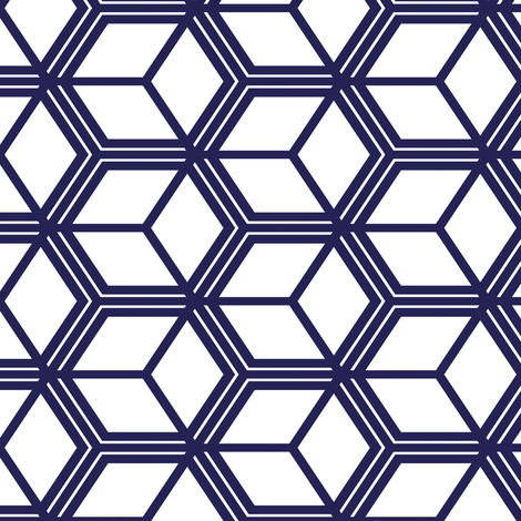 Honeycomb Motif 12 fabric by animotaxis on Spoonflower - custom fabric