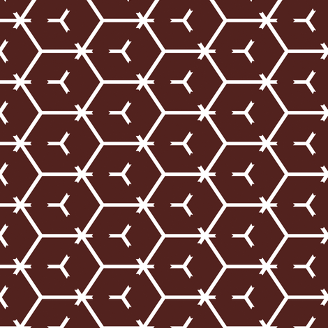Honeycomb Motif 11 fabric by animotaxis on Spoonflower - custom fabric