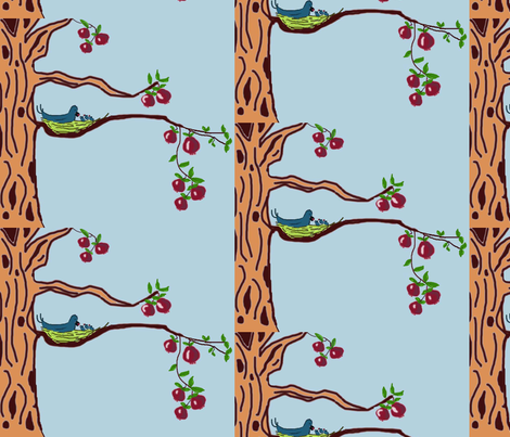 Life is Sweet in the Pomegranate Tree fabric by scoutmom131 on Spoonflower - custom fabric