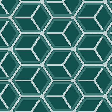 Honeycomb Motif 21 fabric by animotaxis on Spoonflower - custom fabric