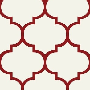 Fancy Lattice: Red Outline