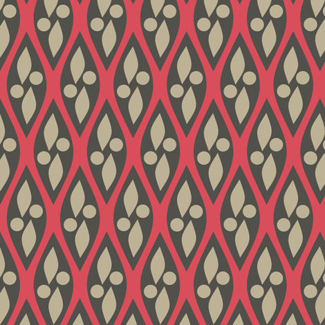 Mod Pink and Brown fabric by bojudesigns on Spoonflower - custom fabric