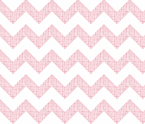 Chevron Sketch Coral fabric by honey&fitz on Spoonflower - custom fabric
