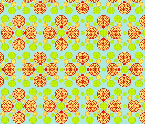 Pomegranate Lime fabric by ninjaauntsdesigns on Spoonflower - custom fabric