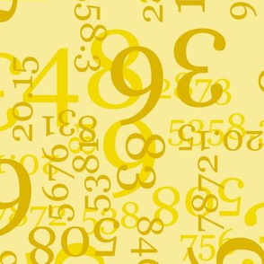Large Yellow Numbers on Light Yellow