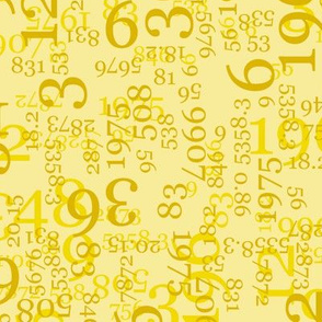 Yellow Numbers on Light Yellow