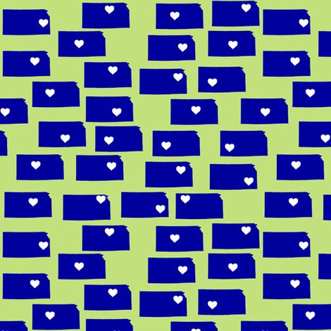 Kansas hearts fabric by spacefem on Spoonflower - custom fabric