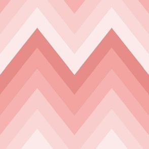 Rose Ombre Chevron