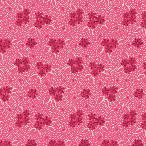 Flower Paisley Dot pink fabric by modernprintcraft on Spoonflower - custom fabric