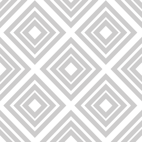 No Such Thing As Too Many Diamonds: Gray fabric by frontdoor on Spoonflower - custom fabric
