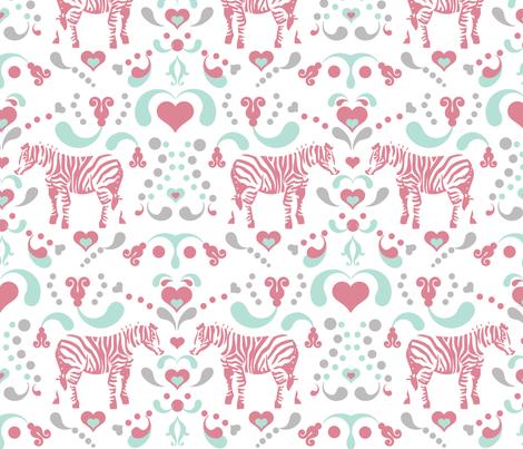 ZEBRAS fabric by honey&fitz on Spoonflower - custom fabric