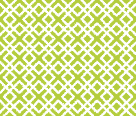 Weave Ikat in Green or Chartreuse fabric by pearl&phire on Spoonflower - custom fabric