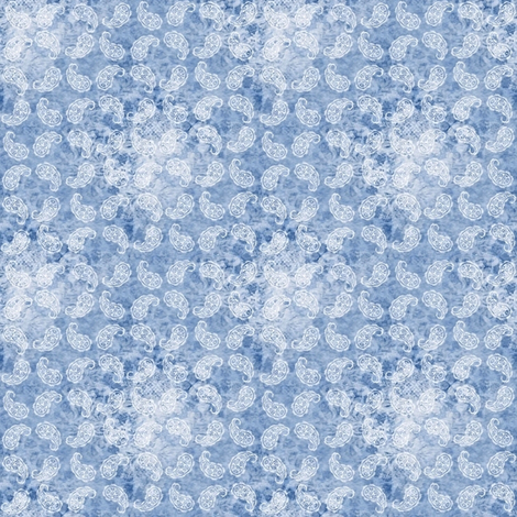 Shabby paisley (light blue) fabric by raccoons_rags on Spoonflower - custom fabric