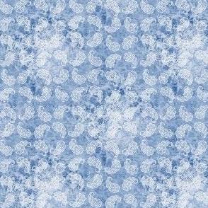Shabby paisley (light blue)