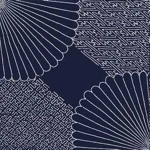 Sashiko blue-