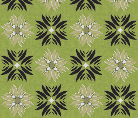 Modern Hula fabric by pearl&phire on Spoonflower - custom fabric