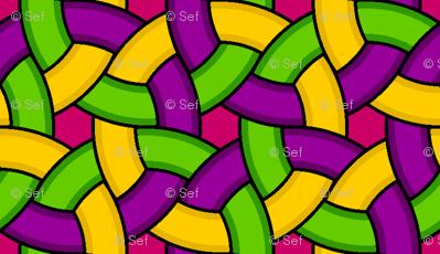 01271356 : woven rings 3 : mardi gras