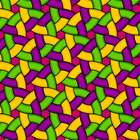 01271356 : woven rings 3 : mardi gras fabric by sef on Spoonflower - custom fabric