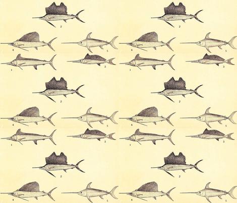 Swordfish & Sailfish fabric by flyingfish on Spoonflower - custom fabric
