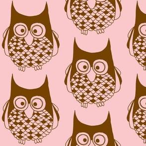 Hootie Cutie Owl Pink Brownie