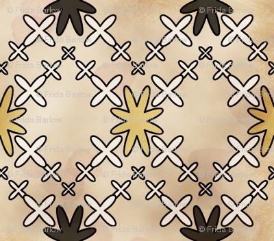 Orion's Cross in Batik Style Vintage