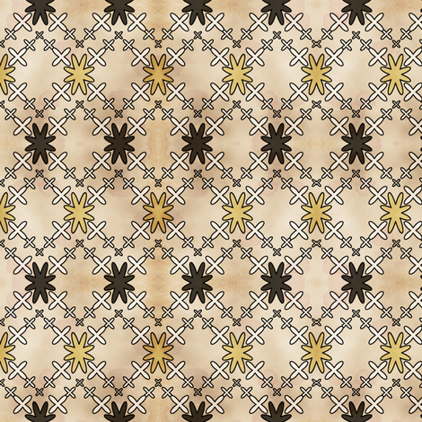 Orion's Cross in Batik Style Vintage fabric by pearl&phire on Spoonflower - custom fabric