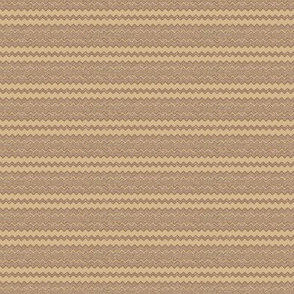 Brown with Wheat Zigzag Stripe © Gingezel™