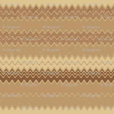 Wheat Fields Zigzag Horizontal Stripe © Gingezel™ 2012